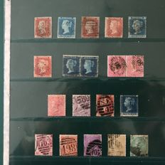 Great Britain 1841/1862 – selection of 19 stamps – Michel 3/22