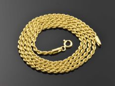 18k Gold. Chain Cord. Length 54.5 cm • No reserve price •