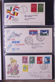 The Netherlands around 1959/1998 - batch of FDCs in eleven, partially old, albums