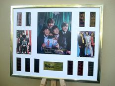 The Beatles XL signed film cell montage featuring all the films