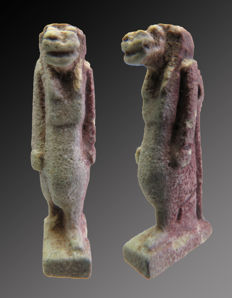 Egyptian faience amulet of Taweret - 25 mm.