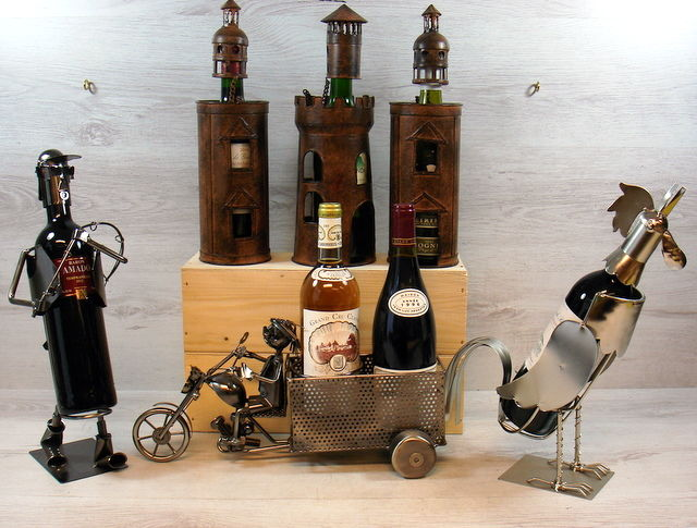 Six Metal Decorative Wine Bottle Holders Catawiki Interesting Decorative Wine Bottle Holders