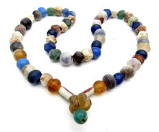 Viking Period  Necklace with Coloured Glass Beads - 460 mm