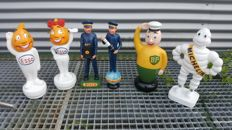 Complete collection of retro figurines