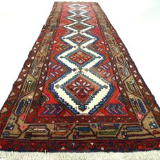 "Hamadan - 283 x 76 cm - ""Persian runner - Has been cleaned and is in gorgeous condition"" - With certificate"