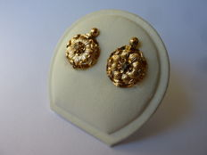 Handmade Almond style earrings from the early 19th century
