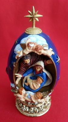 "House of fabergè "" the nativity "" egg collector numbered signed,"
