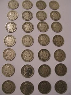 Complete Collection – Alpaca – 50 centavos – 28 coins – missing 1935