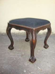 mahogany stool - Early XX Century