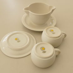 Collection of the Wehrmacht, German labour front from the 2nd World War canteen dishes.