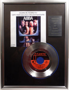 "ABBA - Knowing Me , Knowing You - 7"" Single Atlantic Records platinum plated record Special Edition"