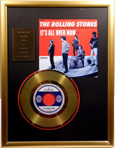 "The Rolling Stones - It's all over now - 7"" Single London Records golden plated record Special Gold Edition"