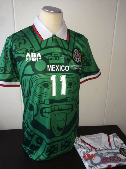 a28024564 Mexico World Cup 1998   Blanco - Home and Away shirts  98 (2x ...