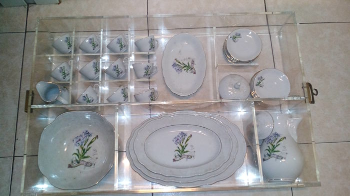 Tirschenreuth - Daliesque flowers dinnerware set