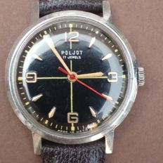 KIROVSKIE POLJOT Russian Soviet watch 1 MChZ im.Kirova men´s wristwatch, late 1960s.