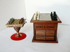 Two office chess sets.