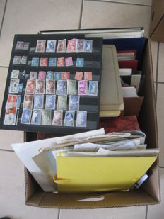 World - Stamps in bulk including classic and French stamps