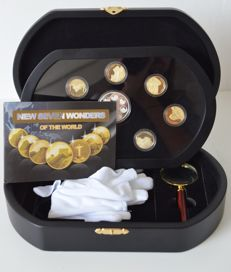 World - Coins 'New Seven World Wonders' (8 coins total) 2012 - Gold gilt.