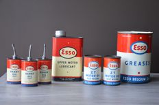 Collection of Esso oil cans - 1950s