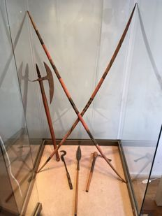 Ethnographic lot composed of 6 weapons from the colonial period - Former Belgian Congo