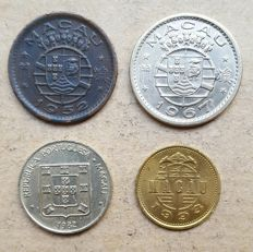 Portuguese Macau / Republic – 4 coins – Set of 10 Avos 1952, 1967, 1982 & 1993