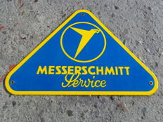 Messerschmitt service garage dealer enamel advertising sign enamel