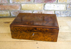 A Victorian walnut table box - circa 1860