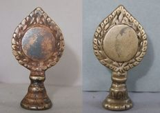 Lot with 2 bronze mirrors – Tibet – late 19th/early 20th century