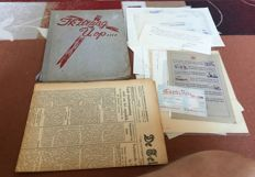 Second World War Large lot with Dutch documents, newspaper and book. Among other things, Swedish food dropping.