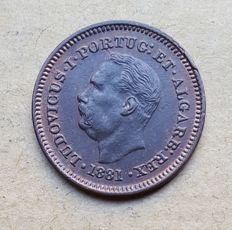 Portuguese India – Eighth of a Tanga 1881 – D. Luís I – Superior Condition