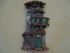 Luca Cistaro - Decorated tile, old cottage