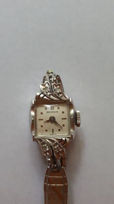 Benrus wristwatch for women 14kt / 585 Art Deco