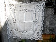 Vintage linen tablecloth!