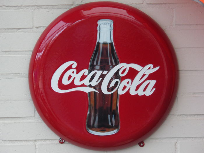 Enamel advertising sign Coca Cola - ca. 2nd half of the 20th century