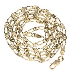 14 kt – Yellow gold curb link necklace – Length: 46 cm