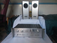 Akai amplifier type AM-2250 and speakers Akai type SW-30 vintage 1970s