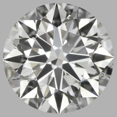 Round Brilliant 1.31ct  H SI1  3EX - EGL USA -Original Image 10X #2089