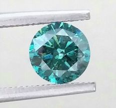 Fancy VIVID Blue - Brilliant Cut  - 1.13 carat  -  SI2 clarity - Natural Loose Diamond - Comes With IGL Certificate + Laser Inscription On Girdle