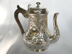 French silver repousse pot, Paris 1785, René Pierre Ferrier