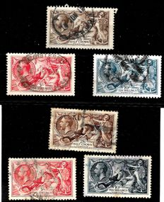 Great Britain King George Vth. 1918 -  Seahorses Stanley Gibbons 413/7 and 450/452