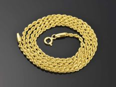 18k Gold. Chain Rope - 54.5 cm • No reserve price •