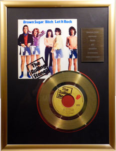 "The Rolling Stones - Brown Sugar - 7"" Single Stones Records golden plated record Special Gold Edition"