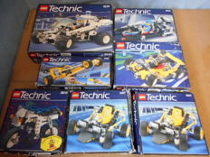 Vintage Technic - 7 sets incl. 8810 + 8230 + 8810 + 8205 + 8207 + 8223 - Cafe Racer + Bungee Blaster + Coastal Cop Buggy