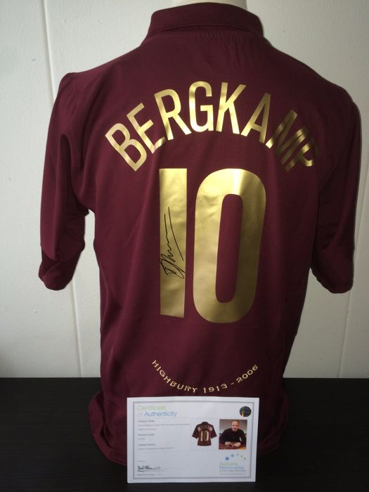 a17d971c0 Dennis Bergkamp   Arsenal - Ultra Rare Hand Signed Highbury Farewell Shirt  + COA inc Photoproof