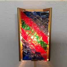 Unknown designer – Wall light made of coloured glass