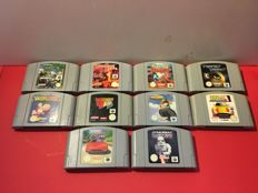 Lot of 10 topgames for Nintendo 64
