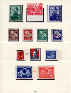 "GDR – 1949 – 1975 – ""collection complete including German Chinese Friendship and Marx blocks in Lindner T album"