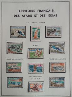 Former French Colonies 1967/1975 - Nearly-complete collection of Afars and Issas