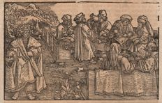 Hans Weiditz (1500-.1536) - The scholars in conclave + The scholars in the garden  - Ca 1530
