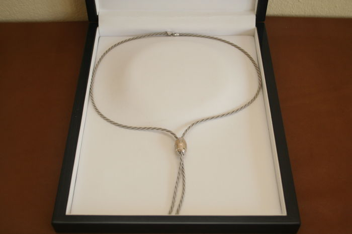 Wellendorff - 750 gold cord necklace (white gold) - weight 45 g - length 35.5 cm